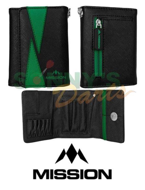 Flint Wallet Black & Green+
