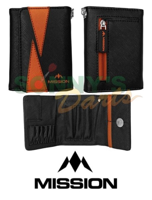 Flint Wallet Black & Orange+
