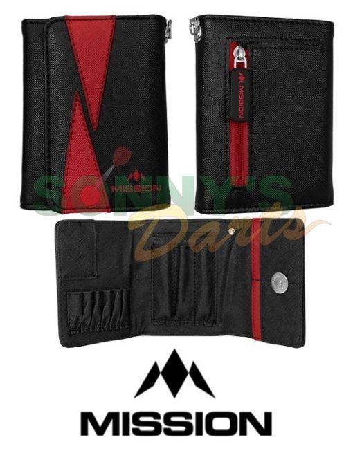 Flint Wallet Black & Red+